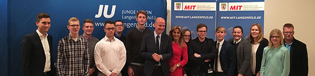 Kurz notiert: MIT & JU-Talk mit Michaela Noll MdB und Ralph Brinkhaus MdB