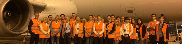 JU und MIT besuchten den Köln Bonn Airport – Politische Vereinigungen informierten sich über Logistik und Lärmschutz