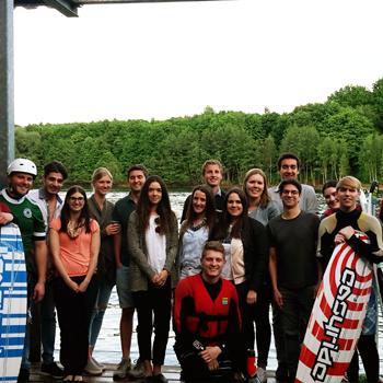 Junge Union feiert den Wahlsieg mit Barbecue & Wasserski
